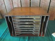 Vintage Antique Wood Drawer Cabinet Hardware Store Machinist Doctors Tool Box