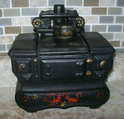 Mccoy Cookie Jar Pottery Cast Iron Stove Oven Made In Usa Vintage Hand Painted
