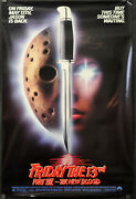 Friday The 13th Part Vii The New Blood 1988 Original 27x40 Movie Poster
