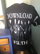 Cradle Of Filth Download Filth T-shirt Size Xl Signed By Dani Filth