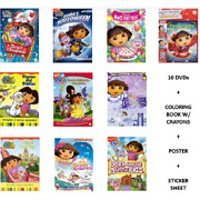 Ultimate Dora The Explorer 10-dvd Combo Pack Collection With Bonus Coloring Book
