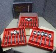 Cromargan Wmf Germany Laurel Flatware Old Triangle Mark Stainless Party Set Box