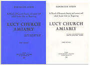 Gertrude Stein Lucy Church Amiably Book Picasso Art