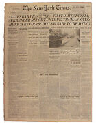 ''the New York Times'' From 29 April 1945 -- Russian Tanks Roll Through Berlin