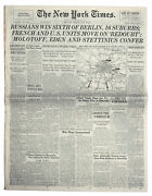 ''new York Times'' Newspaper From 23 April 1945