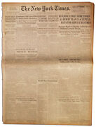 Wwii ''new York Times'' Newspaper From 30 September 1945