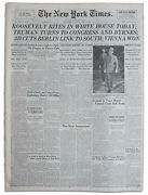 Franklin D Roosevelt Death Reported New York Times 1945