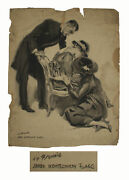 James Montgomery Flagg Large Signed Watercolor