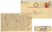 Hunter S. Thompson Letter Signed Re Work Being Holy