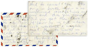 Hunter Thompson Autograph Postcard Signed Re Rum Diary