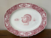 Crown Ducal 21andrdquo Colonial Times Transferware Serving Platter
