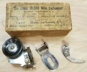 Loew 10,000 Mile Cyclometer 1890's In Box Nos Take A Look, This One Is Worth It