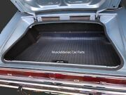 1966-1967 Charger Rubber Trunk Mat Gray Plaid 66 67
