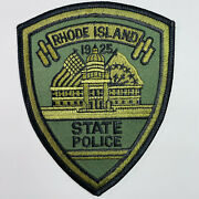 Rhode Island State Police Subdued Od Green Ri Patch A2