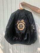 Teamsters Black Satin Jacket Large No Local Patch New