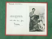 Charles Christmas Card Hand Signed 1978