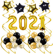 Gold 2021 New Years Balloons For New Years Eve Decorations Supplies, Nye 2021 De