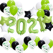 Kaxixi Graduation Decorations 2021 Party Balloons, 38pcs New Years Eve Party Sup
