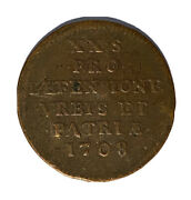 Genuine - 1708 Battle Of Lille Rare French Coin - Copper - Free Postage