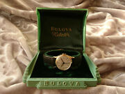 Bulova 1945 Watertite Vintage Manual Wind Watch 10bac Box White Dial Collector