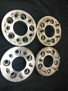 Vintage Wheel Adapters Spacers 1.25 Thick And 5x4.75 Aluminum Hot Rat Rod Rare