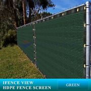 Ifenceview 15 Ft Width Green Fence Privacy Screen Mesh Awning Canopy Patio Top