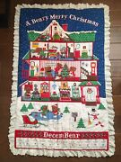 A Beary Merry Christmas Wall Hanging/blanket Advent Calendar Finished No Bear