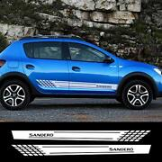 Car Side Stickers Styling Auto Vinyl Decals Automobile For Renault Sandero White