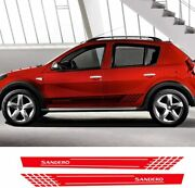 Car Side Stickers Styling Auto Vinyl Decals Automobile For Renault Sandero Red