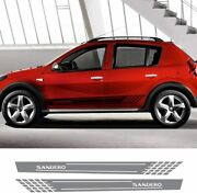 Car Side Stickers Styling Auto Vinyl Decals Automobile For Renault Sandero Gray