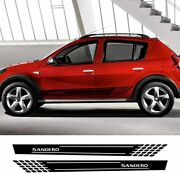Car Side Stickers Styling Auto Vinyl Film Decals Automobile For Renault Sandero