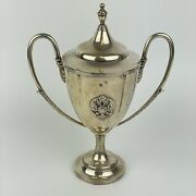Antique Russian Solid Silver Twin Handled Urn Trophy Arms Of Russia 1889 26.5cm