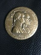 George Washington And Thomas Paine, By Medallic Art Co Bronze Medal, 1976