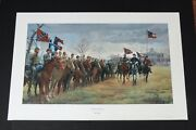 Mort Kunstler - The Review At Moss Neck - Collectible Civil War Print - Mint