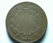 1871 Two Cent Piece Fine F Nice Original Coin From Bobs Coins Fast Shipment