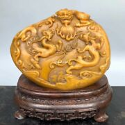 Old Collection Top Jewel Tianhuang Jade Seal Cutting Wealth Dragon Seal Signet