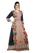 Digital Printed African Aztec Gown Scoop Neck With Crystal Luxe Embroidery 8484
