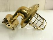 Outdoor Wall Light Sconce Nautical Swan Brass With Junction Box And Shade 10 Piece