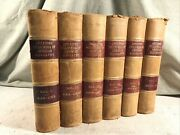 Encycopedia Of American Biography Antique Leather Books Shabby Chic Decor