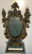 1 Antique Vanity Dressing Table Super Fine Bronze Cast Mirror With Great Details