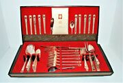 Vtg 1847 Rogers Bros Silver Plated Flatware Eternally Yours 1955 Set 59pcs