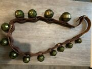 Brass Horse Sleigh Bells Leather Strap Includes History Makes It One Of A Kind
