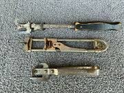 Antique Bottle, Can And Lid Openers Old Rare Collectible 3-pcs. Usa