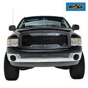 Eag Replacement Upper Led Grille Front Grill Fit 02-05 Dodge Ram 1500/2500/3500