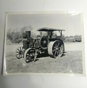 Rumely Oil Pull Tractor Vintage 1932 Black And White Photo Picture Oil Cooled