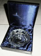 Authentic Pierre Cardin Cigarette Cigar Crystal Glass Ashtray Box New Old Stock