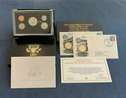 1997 Premier Silver Proof Set And Golden Dollar First Day Issue Set - Free Ship Us