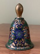 Vintage Chinese Cloisonne Bell With Ornament