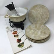 Better Homes And Gardens/home Interiors And Gifts Ashland Fondue Set With Plates