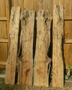 X4 Bookmatched Old Growth Recovered Pecky Sinker Cypress Countertop Bartop Slabs